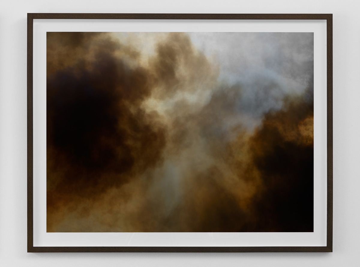 "Fine art photograph of abstract smoke from a fire from the ""Wildfire"" exhibition in Copenhagen by photographer Kenneth Rimm"