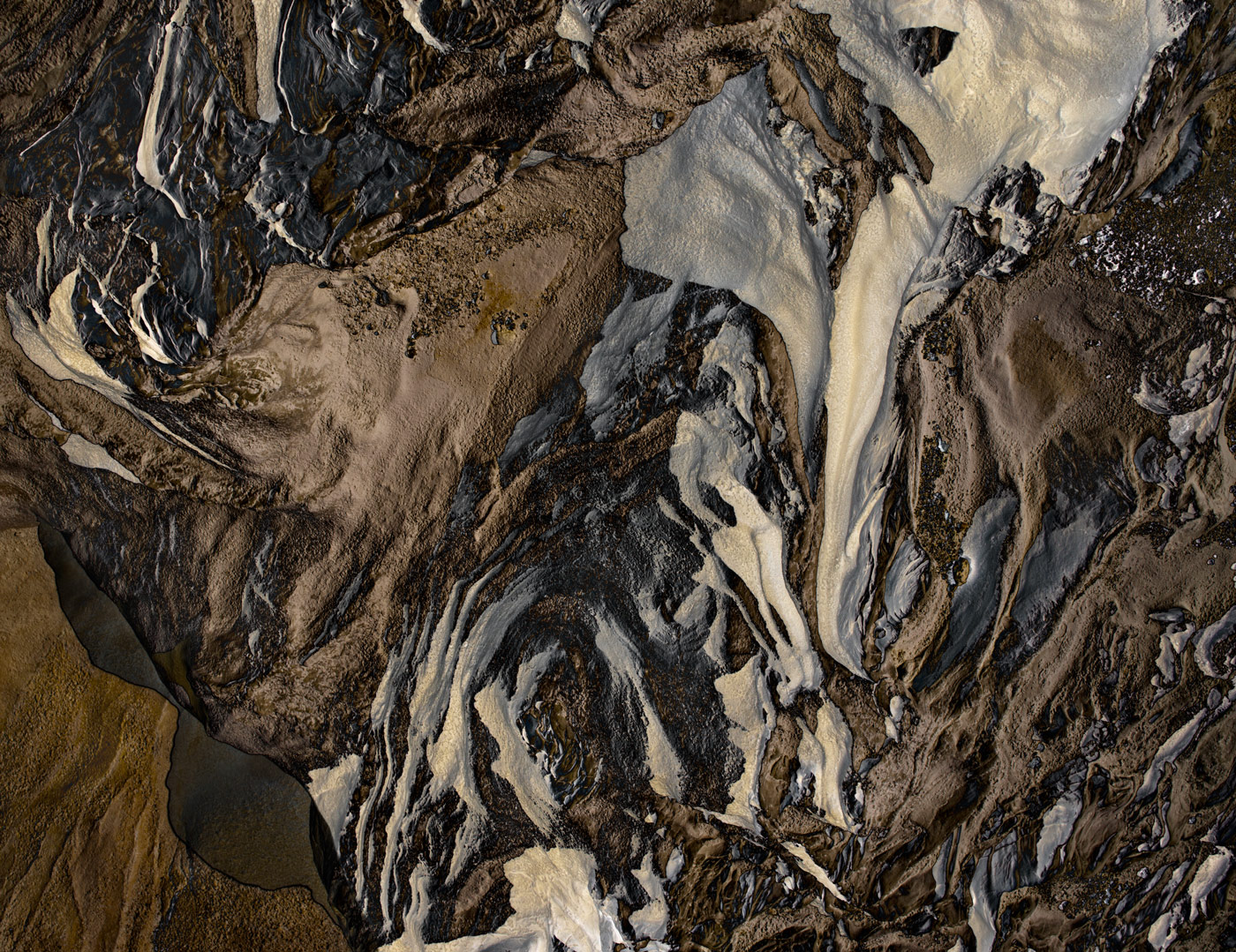 Abstract aerial brown landscape by photographer Kenneth Rimm