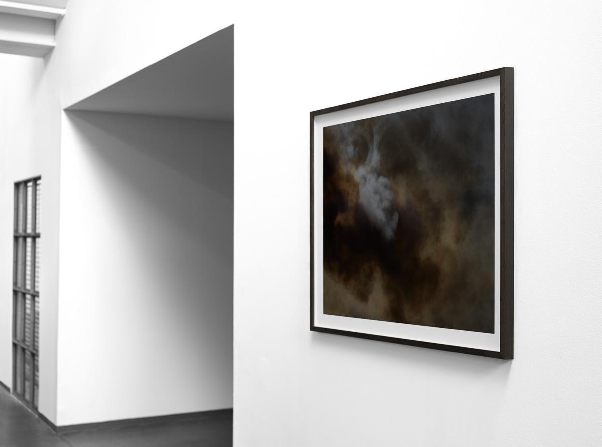 Wildfire print 80×103 cm (billedstørrelse 70×93 cm) indrammet i massivt røget eg monteret på Dibond.